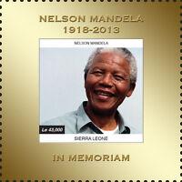 Sierra Leone- President Nelson Mandela Gold stamp Souvenir Sheet