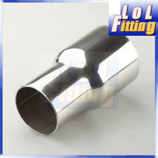 "76MM (3"") To 63MM(2.5"") Stainless Steel SS Flared Exhaust Reducer Connector Pipe"