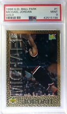 1996 96 Upper Deck Ball Park Franks Gold Michael Jordan #1, PSA 9, Pop 2 only 4^