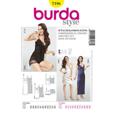 Burda Easy SEWING PATTERN 7186 Lingerie Set-Slip,Camisole & French Knickers