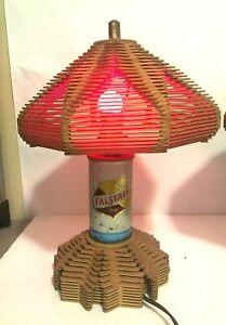 WOW! RARE 1960'S FALSTAFF BEER POPSICLE STICK LAMP MANCAVE FOLK TRAMP ART WILD