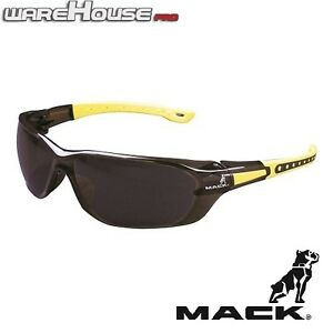 New MACK SAFETY SUN GLASSES- DUO BROWN & YELLOW- 1,3 or 8pk- AS/NZS Certified