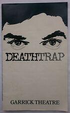 DEATHTRAP.MICHAEL WHITE.GARRICK PROGRAMME 1978.D YELLAND.J DOUBLEDAY.B SESSIONS