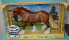 """BREYER TRADITIONAL CHESTNUT FOUR SEASONS """"SPRING"""" OTHELLO/WINTERSONG #1418 NEW"""