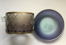 YANKEE CANDLE TWILIGHT DUSK SHIMMER JAR CANDLE SHADE & PLATE