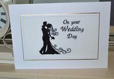 A new embroidered Wedding Card Bride and Groom Silhouette.