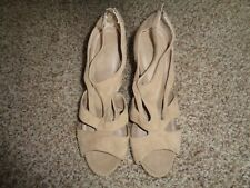 Forever Beige micro suede Platform Size 9 (3947)