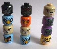 12 genuine LEGO Legends of Chima heads - CROCODILE GORILLA LION TIGER animal