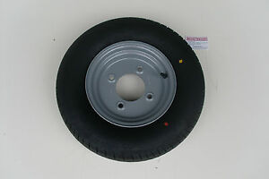 """TRAILER WHEEL/TYRE 145/80 R10 4 STUD 5.5"""" PCD - 500KG RATED"""