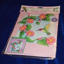 Plaid Hummingbirds Iron on Scrapbook & Fabric Embellishments