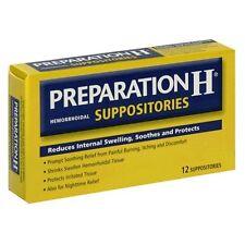 6 Pack - Preparation H Hemorrhoidal Suppositories 12 Each