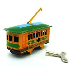 MS268 Vintage Broadway Trolley Tram Retro Clockwork Wind Up Tin Toy Collectible