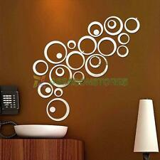 Circles Mirror Style Removable Decal Vinyl Art Mural Wall Sticker Home Decor #4
