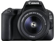 Cámara réflex - Canon EOS 200D, Sensor CMOS, 24.2 MP, Full HD, 9 puntos AF, 5