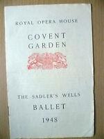 Royal Opera Covent Garden BALLET 1948- RAKE'S PROGRESS/THREE CORNER HAT/M. ANGOT