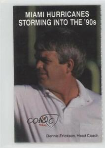 1989 Miami Hurricanes Football Team Schedules Dennis Erickson