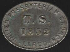 More details for 1852 largo presbyterian church communion token   pennies2pounds