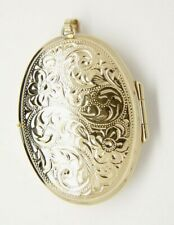 Large Oval Locket - Double Sided Engraving - 9ct Yellow Gold - 41x30mm