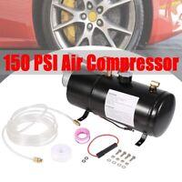AIR COMPRESSOR W/ 0.8 Gallon(3L) TANK FOR TRAIN HORN MOTORHOME TIRES 12V 150PSI