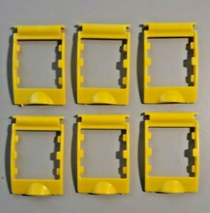 Guess Who Replacement Pieces - 6 Yellow Plastic Card Holder Frame 2005 Game Part