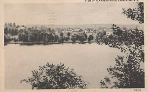 View of Flambeau River - Ladysmith, Wisconsin - posted litho