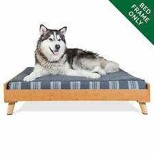 Pet Dog Bed Frame Mid-Century Modern Style For Beds & Mattresses, Walnut, Jumbo