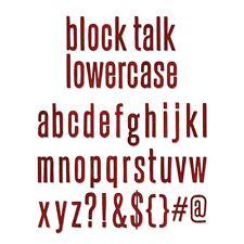 """FUSTELLA SIZZIX """"BLOCK TALK"""" ALFABETO MINUSCOLO 659442 - PER BIG SHOT LETTERE"""