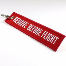 Remove Before Flight Key Chain Bag Tag Red and White Free Shipping from USA