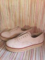 Michael Kors Suede Platform Espadrille Slip On Tan Shoes Womens Size 9