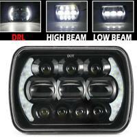"1x 7x6"" 5X7"" LED Projector Headlight Hi-Lo Beam Halo DRL For Jeep Cherokee Truck"