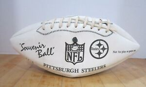 Vintage Pittsburgh Steelers Souvenir ball w many replica autographs - GC