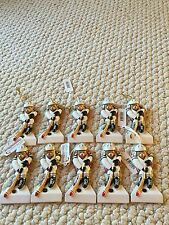 Hockey Player Christmas Ornaments. Lot of 10 Ornaments. NWT. Personalizable.