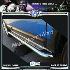 FORD TRANSIT CONNECT SIDE BARS STEPS BOARDS CHROME  2002-2013 CHEQUER SWB NEW