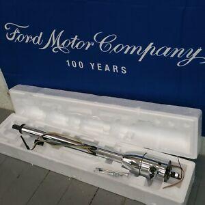 1948 - 1956 Ford Truck 33 Chrome Tilt Steering Column KEYED Floor Shift trans