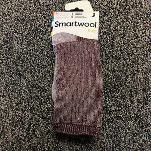 NEW Smartwool Mens Hike Merino Wool Crew Socks - Plum Heather - Large