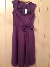 Lindy Bop Grace Size 10 Purple Dress Rockabilly Swing