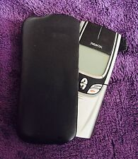 Nokia 8850 Silber Mit Original Nokia Leder Handy Tasche