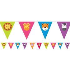 JUNGLE ANIMALS BUNTING - 4 metres CHILDRENS BIRTHDAY PARTY DECORATION Boys/girls