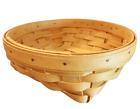 "Longaberger Short 2001 Classic Round Basket 7.5"" Across 2.5"" Tall"