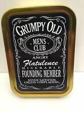 Grumpy Old Men Club,Funny Man,Dad,JD Gift Cigarette Tobacco Storage 2oz Tin