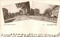Vintage Postcard - 1909 East And West Maine ST Greenfield Massachusetts #3112