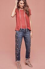 NWT Pilcro Hyphen Floral Embroidered Mid-Rise Jeans Size 27