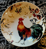 Williams-Sonoma Pottery Rooster, Francais, Marc Lacaze, Large Serving Bowl 15""