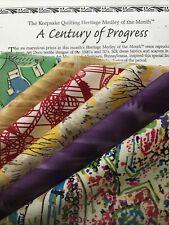 "KEEPSAKE QUILTING HERITAGE MEDLEY 6 FAT QUARTERS ""A Century Of Progress"""