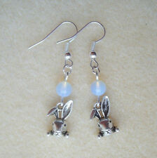 Silver Plated Lab-Created/Cultured Costume Earrings