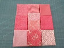 10 fat quarters, No Duplicates. 100% Cotton Quilting Fabric. Coral Colors