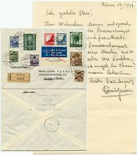 AUSTRIA 3rd REICH MIXED MULTIFRANKING REGISTERED BLUDENZ 23 APRIL 1938 ANSCHLUSS