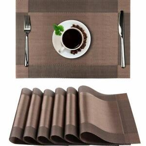 12x Platzsets Platzdeckchen Untersetzer PVC Abwaschbar Platzmatte Tischmatten