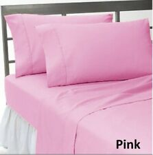 Bedding Collection 1000 TC Egyptian Cotton US Sizes Pink Solid Select Item