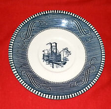 "ROYAL China Jeannette CURRIER & IVES - BLUE pattern Saucer 6 1/4"" Dia."